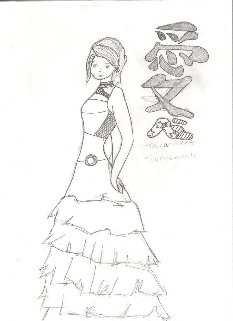 Prom Dress Sketch by Jinxxmuffin on DeviantArt
