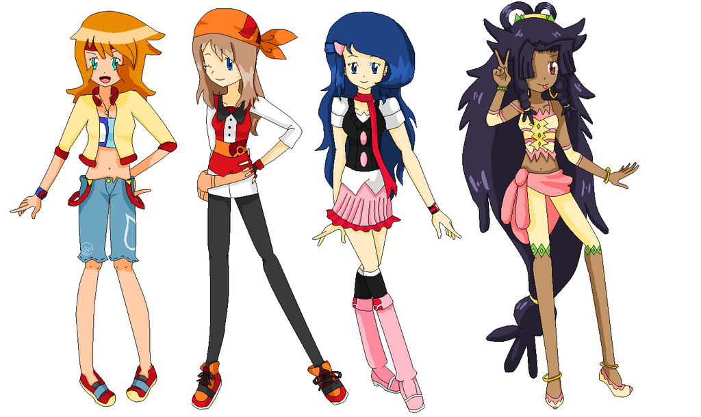 Anime Character Design Competition : Pokemon female protagonist anime new outfit by diamondmian