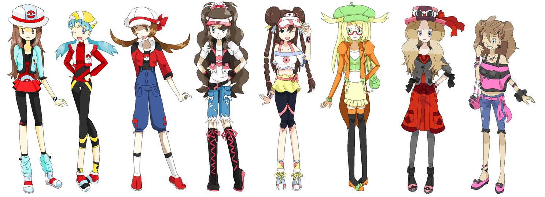 Pokemon Female Protagonist Game New Outfit by DiamondMian on DeviantArt