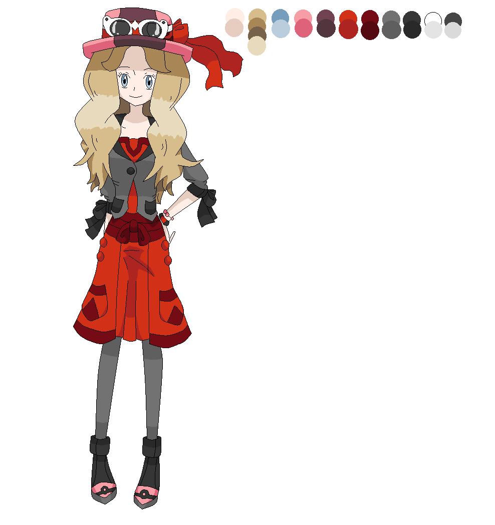 Pokegirl New Outfit Serena By Diamondmian On Deviantart