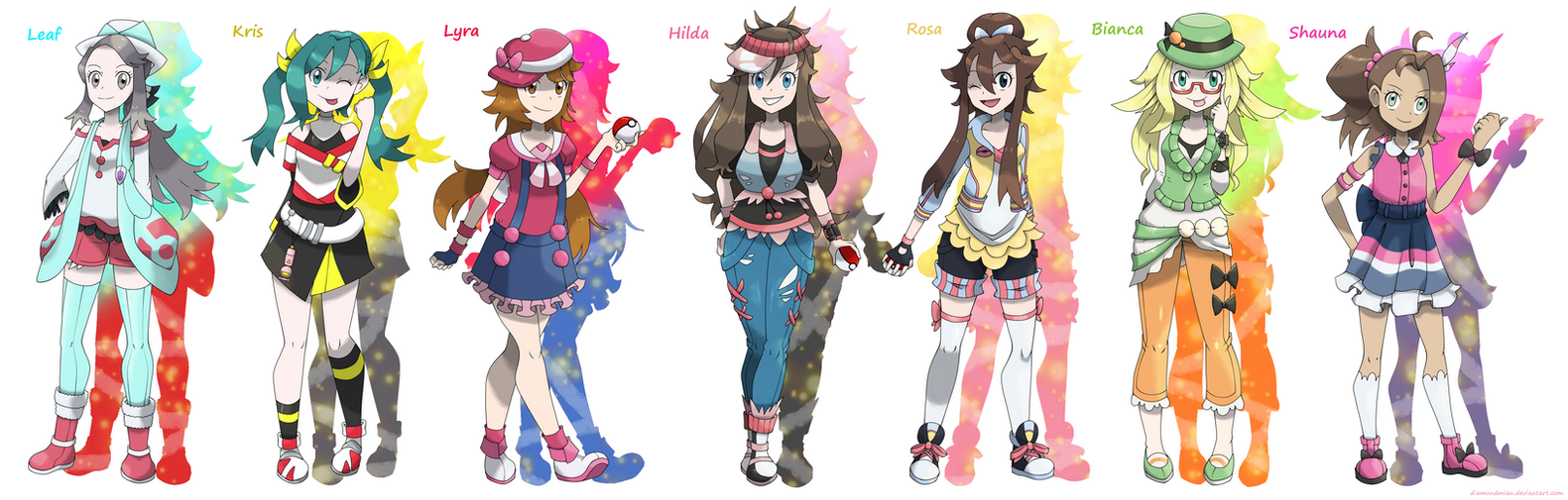Pokegirl New Outfit Game Heroines and Rivals v.2 by DiamondMian