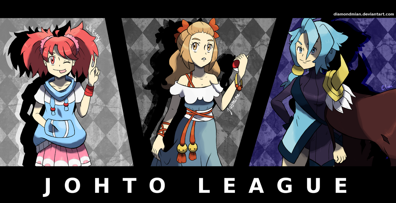 pokegirls new outfit johtos gym leaders v2 by