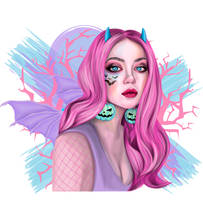 Pastel Halloween Devil by 8LouLou8