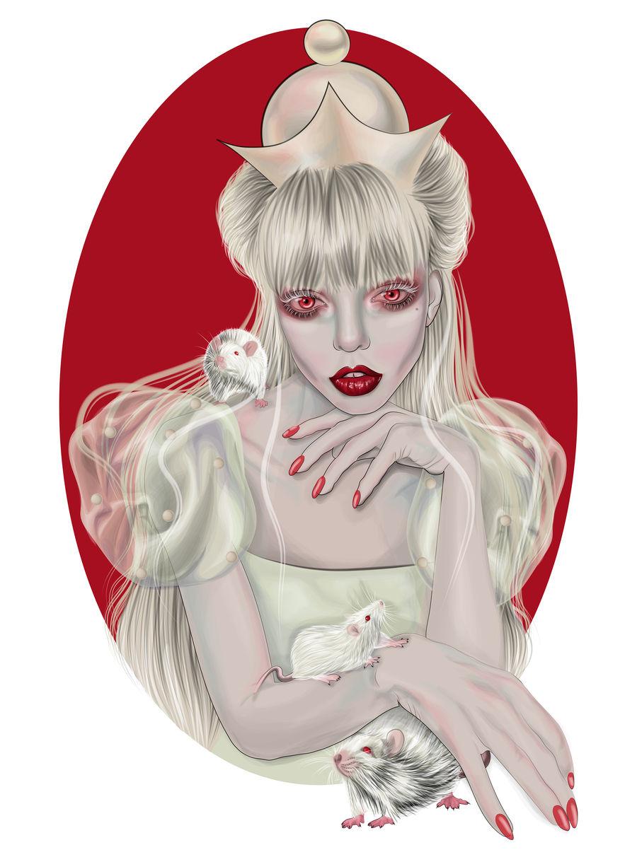 White Queen - Vector illustration
