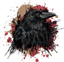 Raven portrait - vector by 8LouLou8
