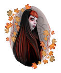 Autumn fairy - vector