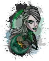 Goth Zodiac - Cancer by 8LouLou8