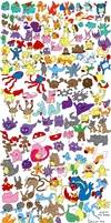151 Pokemon Drawn by Memory by blayzeon