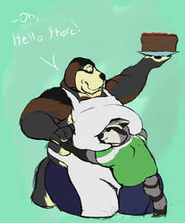 A Bwoof and a Baker by pikminpedia