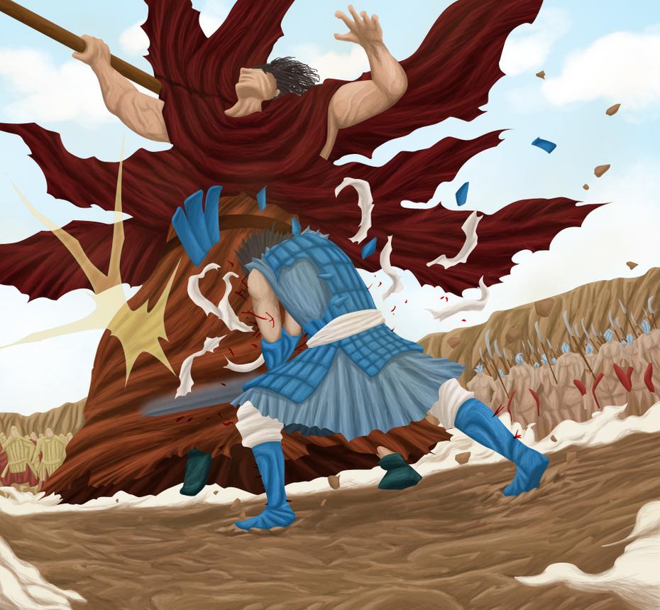 David vs Goliath by larsi-artz