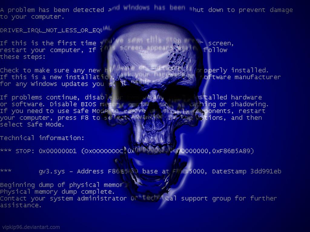 Blue Screen Of Death By Vipkip96 On Deviantart