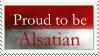 Stamp : Alsatian pride by Scipia