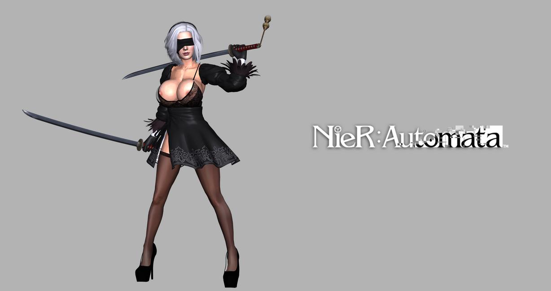 Nier: Automata 2B Remastered by valray3