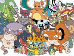 Ash s Pokemon COLORED