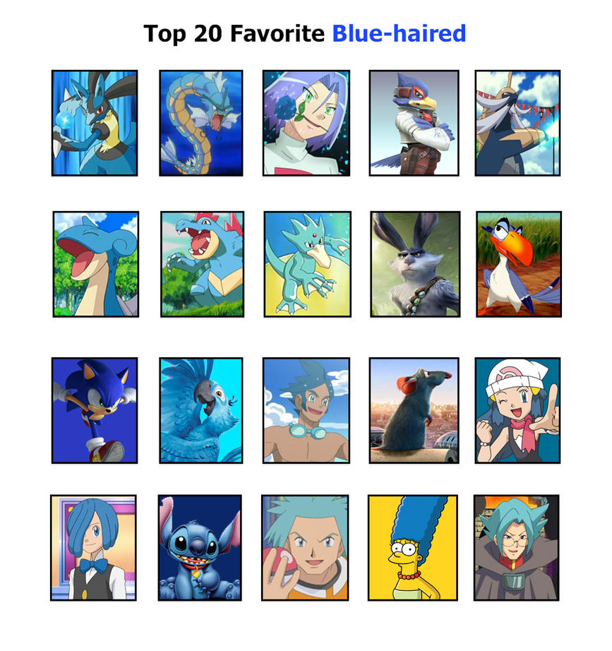 Cartoon Characters With Blue Hair : Top favorite blue haired by reshiramaster on deviantart