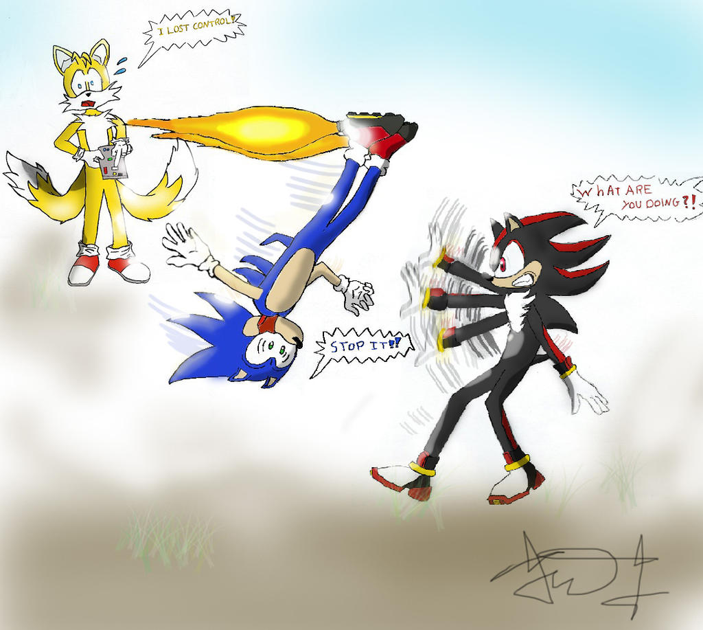 Tails Sonic Shadow And The Flying Shoes By Paredi On Deviantart