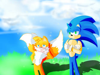 Sonic And Tails by Paredi