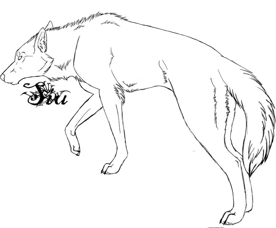 wolf outline by TheSiubhan on DeviantArt