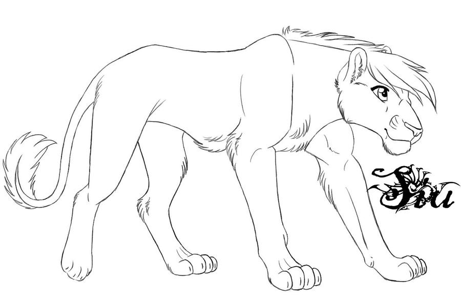 lioness outline by TheSiubhan on DeviantArt
