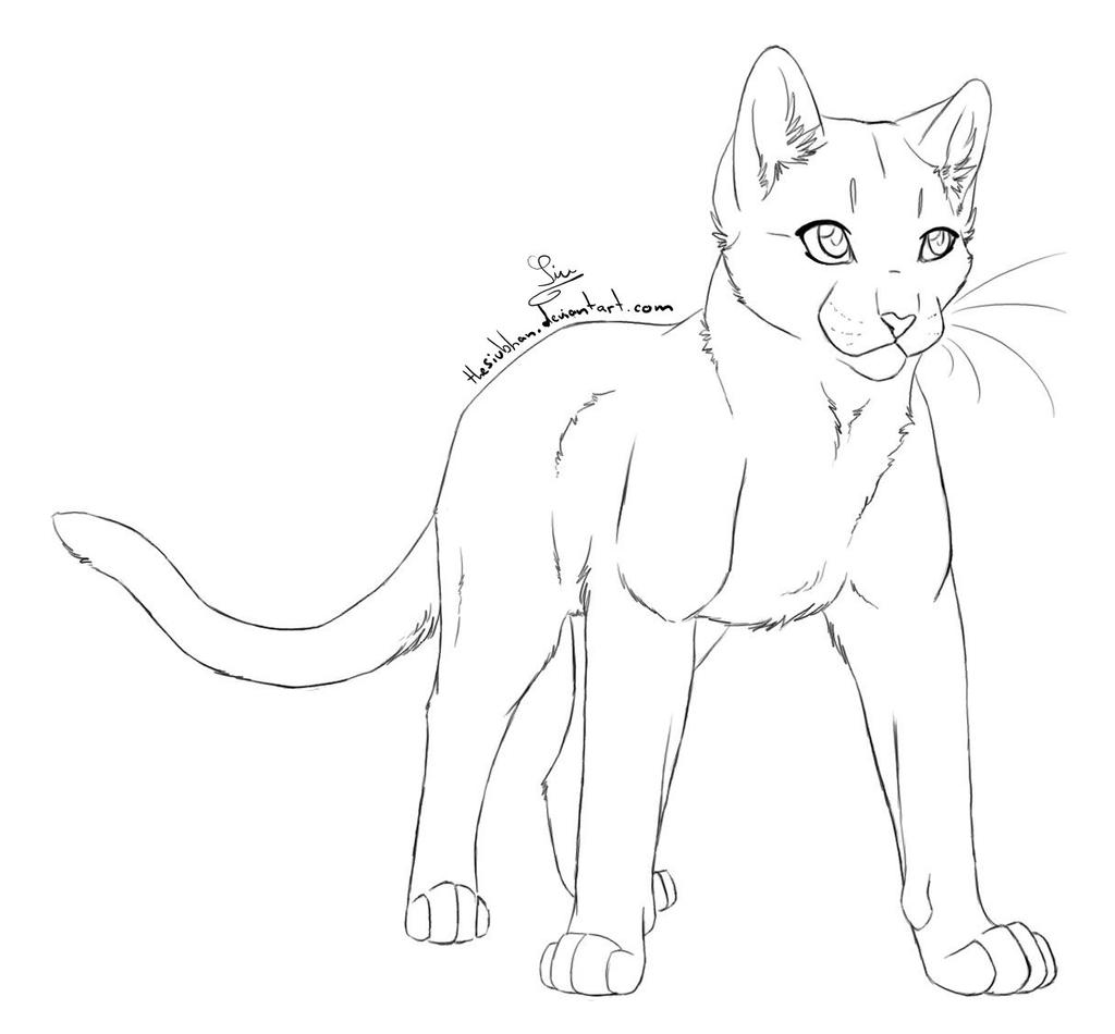Cat Outline Female By Thesiubhan On Deviantart
