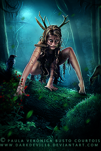 Deer Woman by DarkDevil16