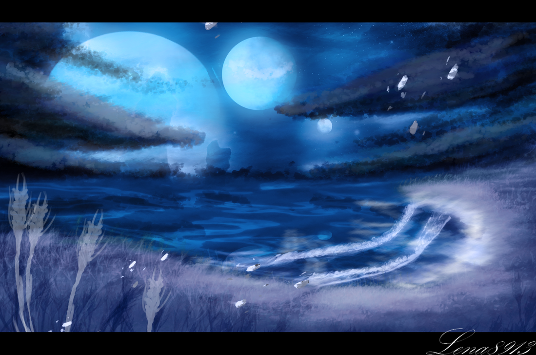 .:Moonlight waves:. by lena8913