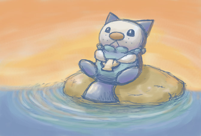 Oshawott Rock by H-S