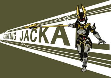 Valkyrie Fighting Jackal by KamenRiderDeCaliber