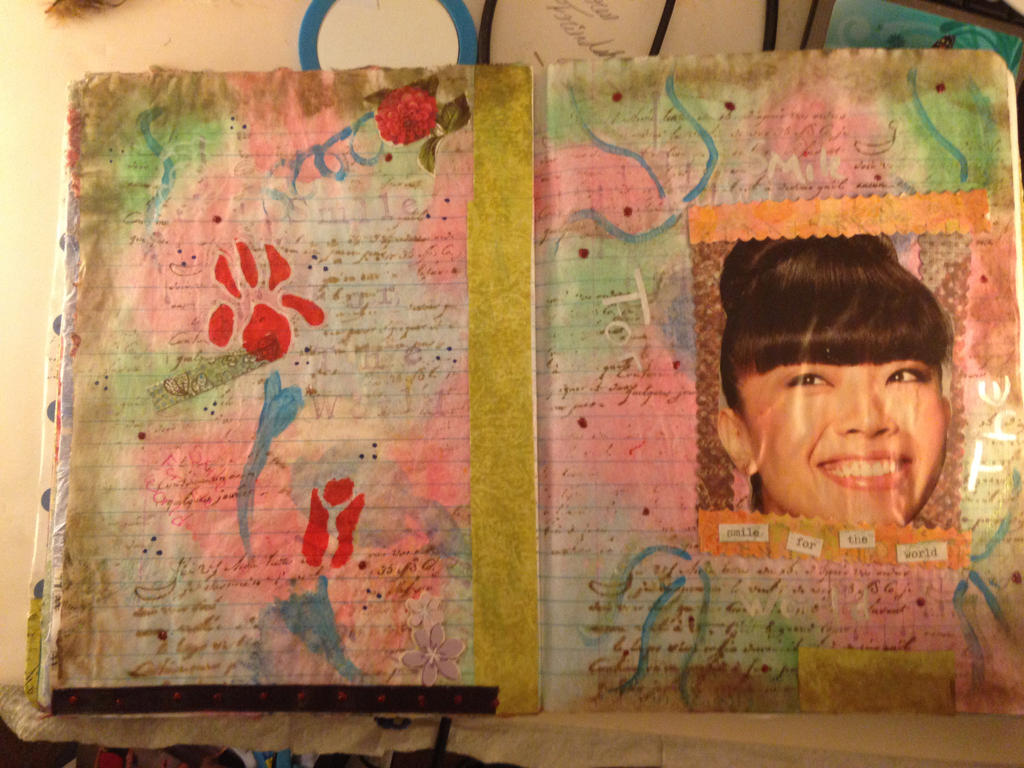 Art Journal: Pages 14-15 Smile by Notebook-Queen