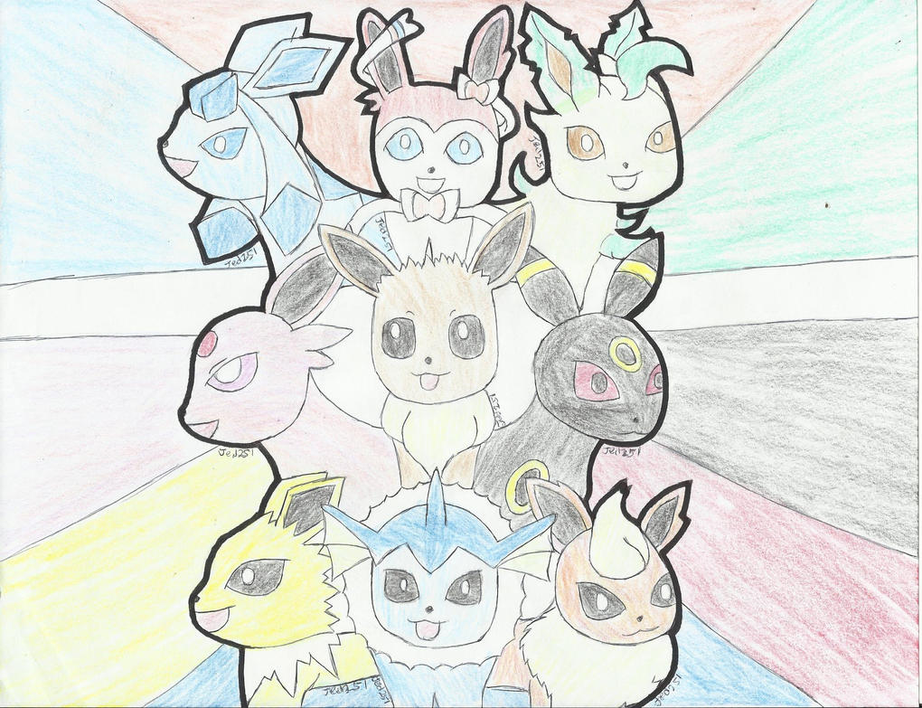 Eeveelutions Blast by jed251