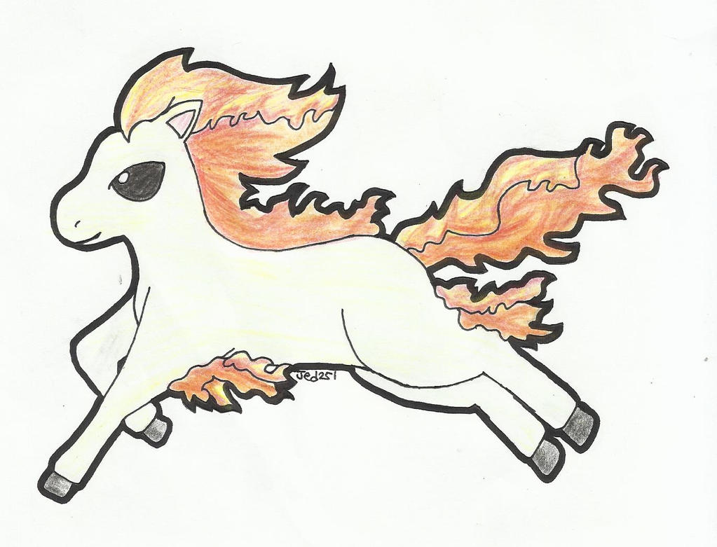 5D3SA Day 5: Dashing Ponyta by jed251