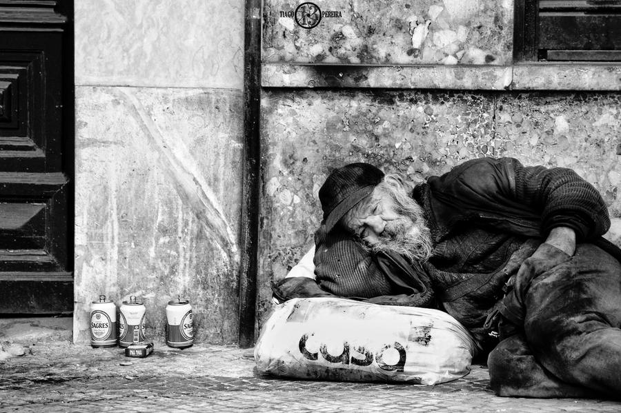 Homeless 5 Black And White by TiagoTakesPictures