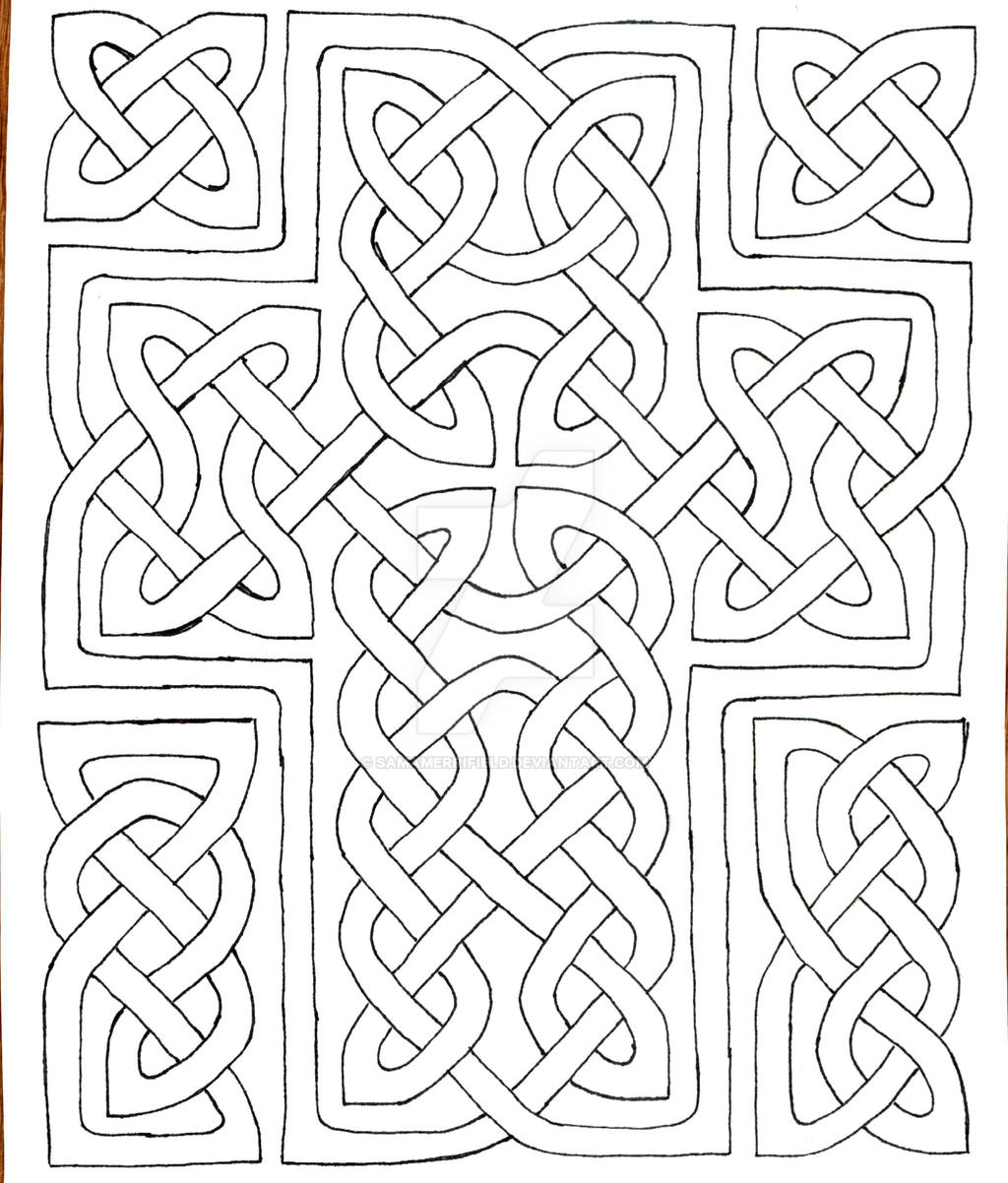 coloring book celtic cross by samamerrifield coloring book celtic cross by samamerrifield - Celtic Coloring Book