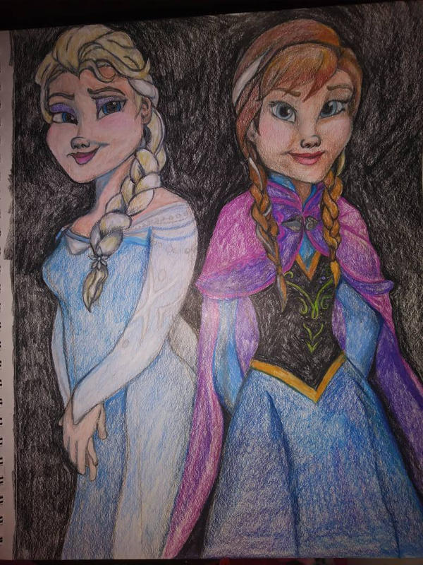 Anna and Elsa by allieseville1