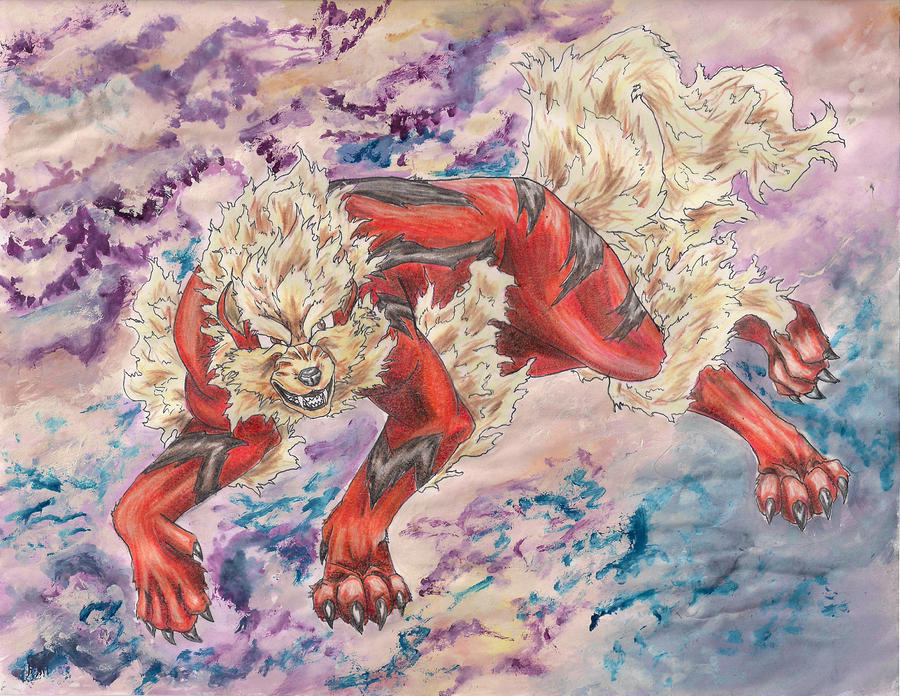 Arcanine of the Heavens by smaragdweiss