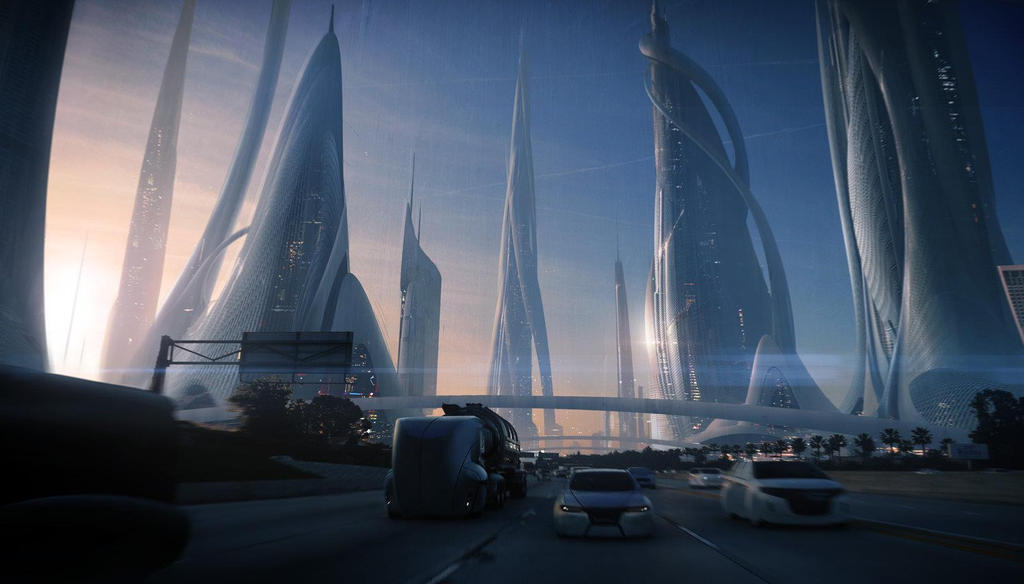 Обои город будущего   pic2me