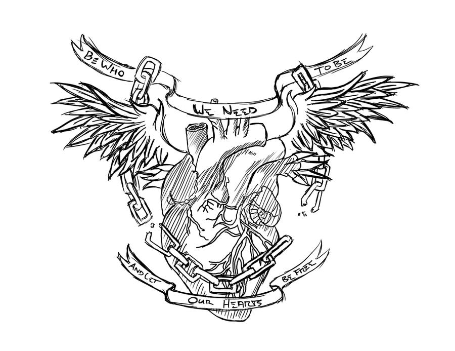 Chestpiece Tattoo Linework By Facelessangel On DeviantArt