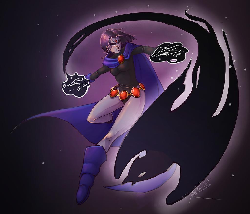 Raven (Teen Titans) by Rozen-Clowd