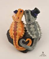 Bearded Dragons Custom Wedding Cake Topper by Hollys-Art