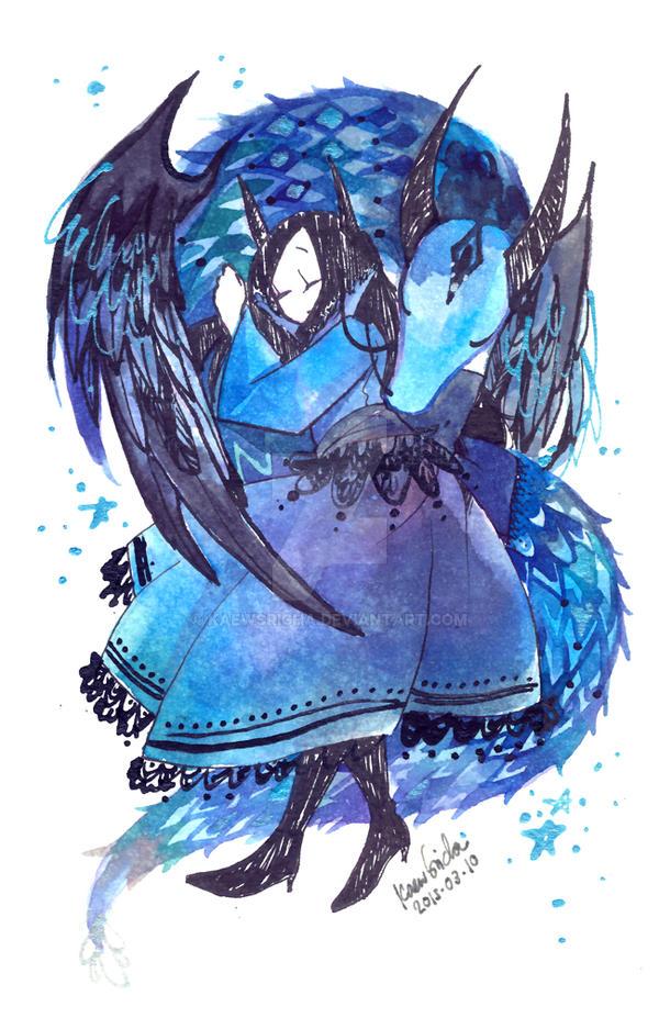 Blue dragon by Kaewsricha