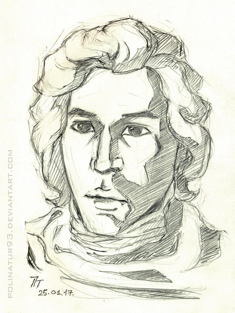 Kylo Ren, sketch by polinatur93