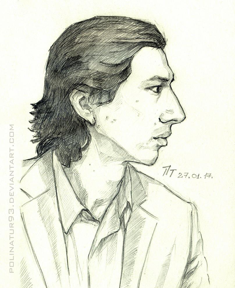 Adam Driver, sketch by polinatur93