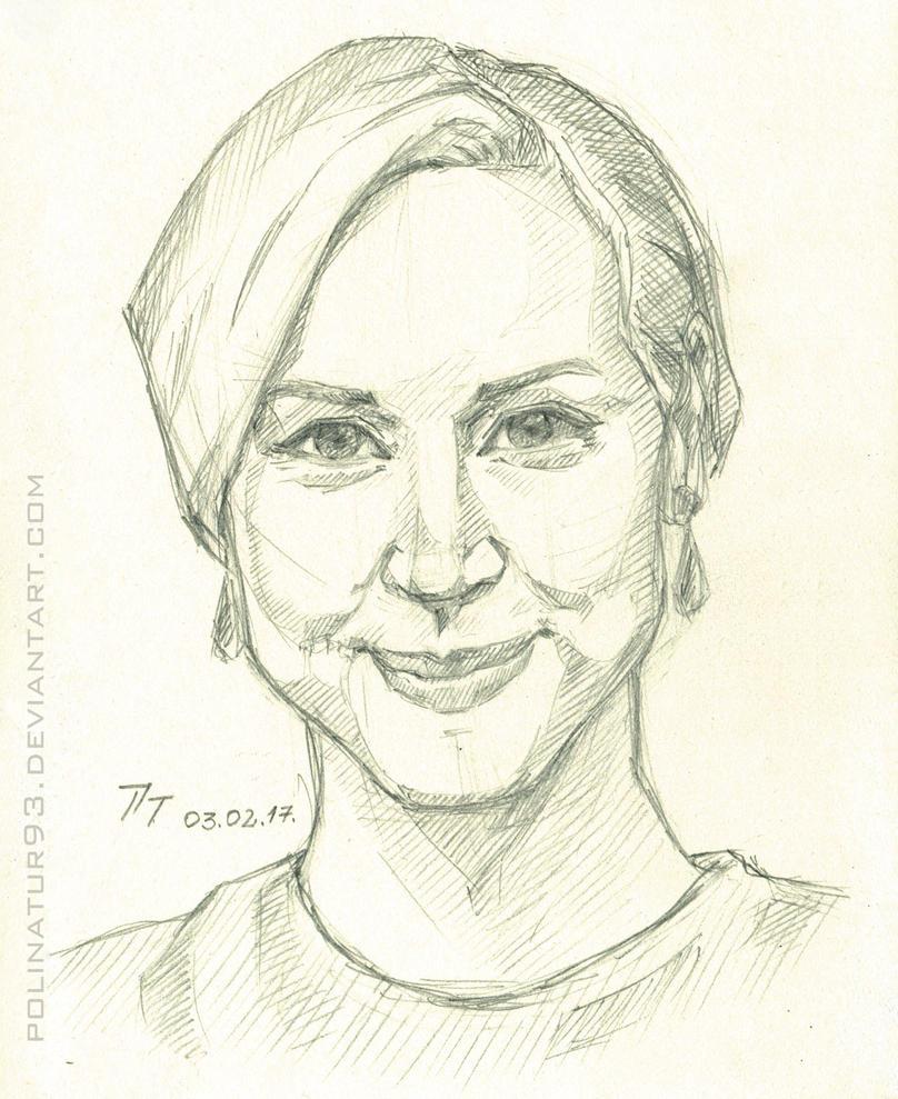 Gwendoline Christie, sketch by polinatur93