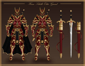 Elite Knight Armor and Weapon Design