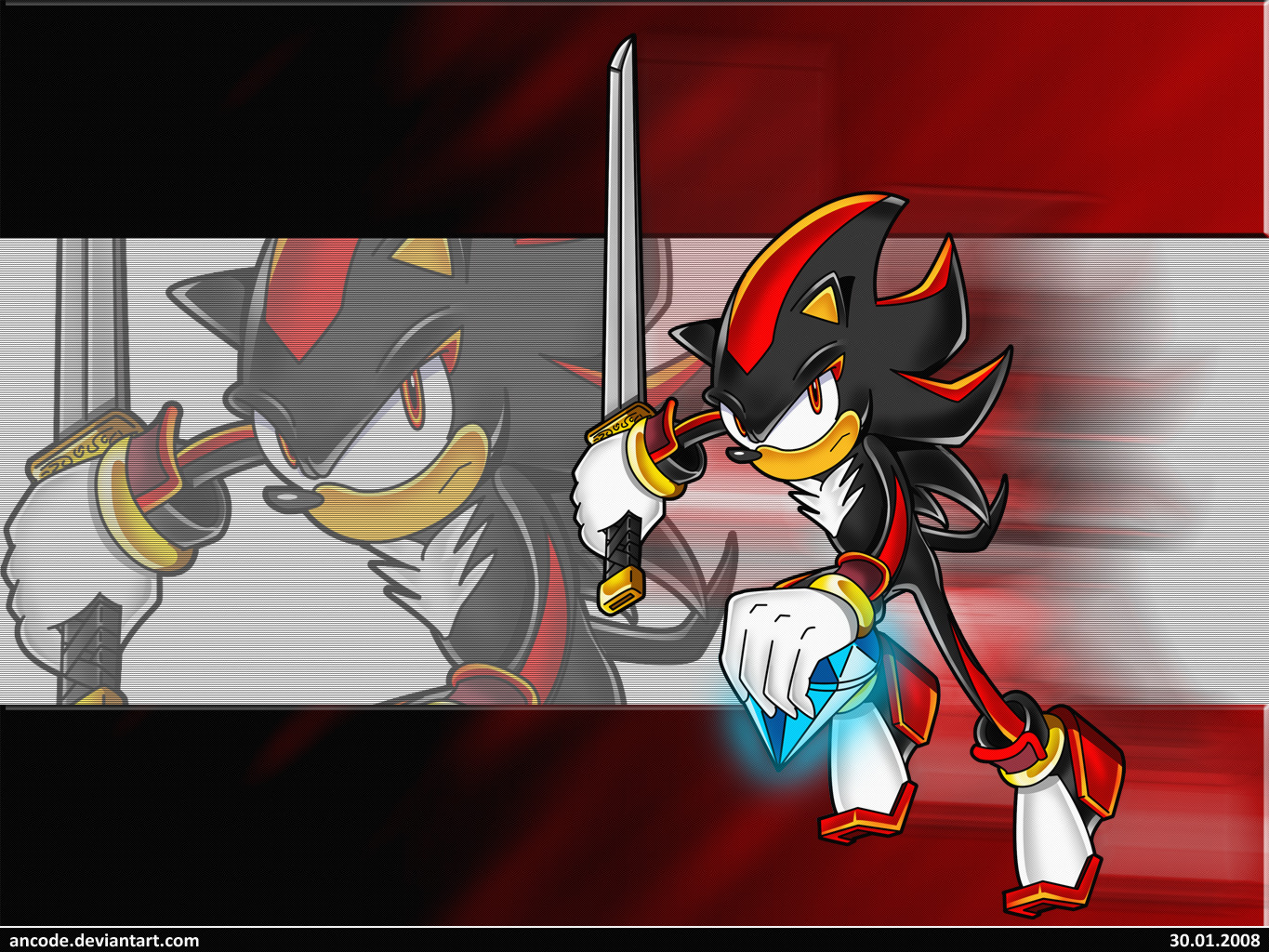 Shadow - Chaos and Sword by ancode on DeviantArt