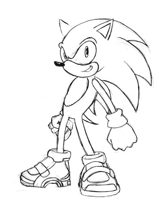 Sonic  test sketch by ancode on DeviantArt