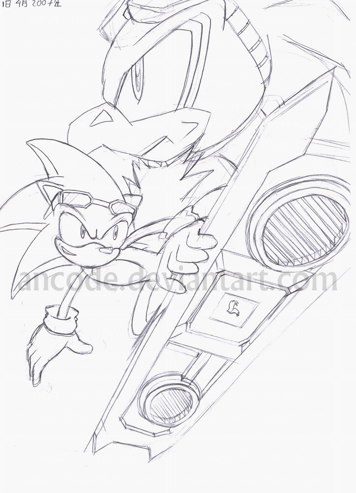 sonic riders coloring pages - photo#27