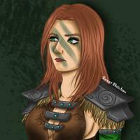 Aela the Huntress by SweetShiichan