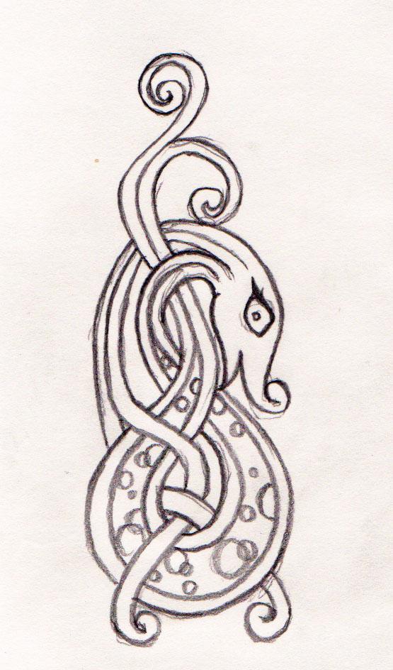 Norse Viking Dragon Tattoo Designs