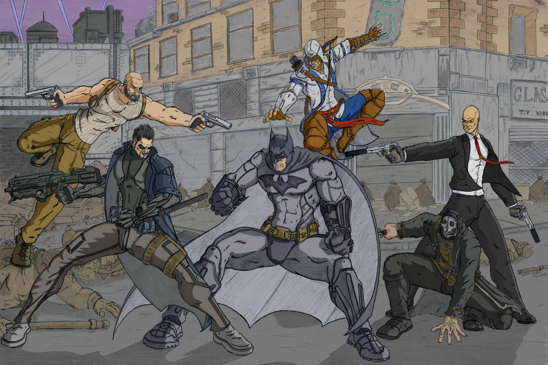 Wreck it Batman coloured by DerekDwyer
